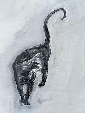 p68 line 24 - black cat - Peter Waine -