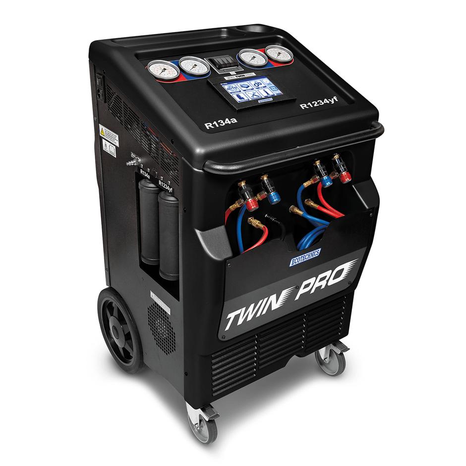 ECK TWIN PRO, Полностью автоматическая установка для обоих хладагентов – R-134a и HFO-1234YF.