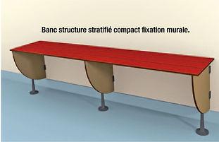 banc stratifié  compact CABSAN - bancs pour collectivité CABSAN