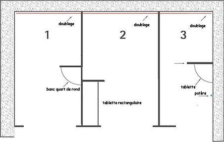 Equipement sanitaire:cabines déshabillage CABSAN stratifié phénolique HPL