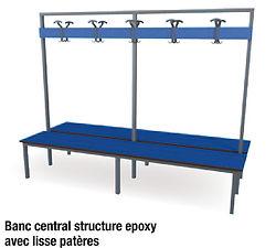 banc stratifié  compact CABSAN - bancs pour collectivité CABSANes