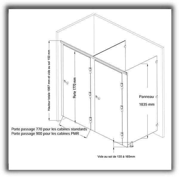 cabine-sanitaire.com, la cabine stratifié compact économique CABSAN