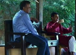 Relaxing over Tea