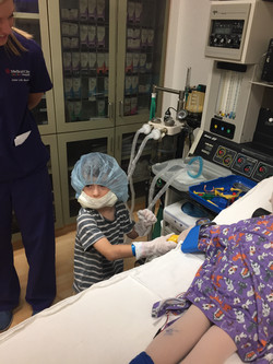 Oliver getting ready for his surgery
