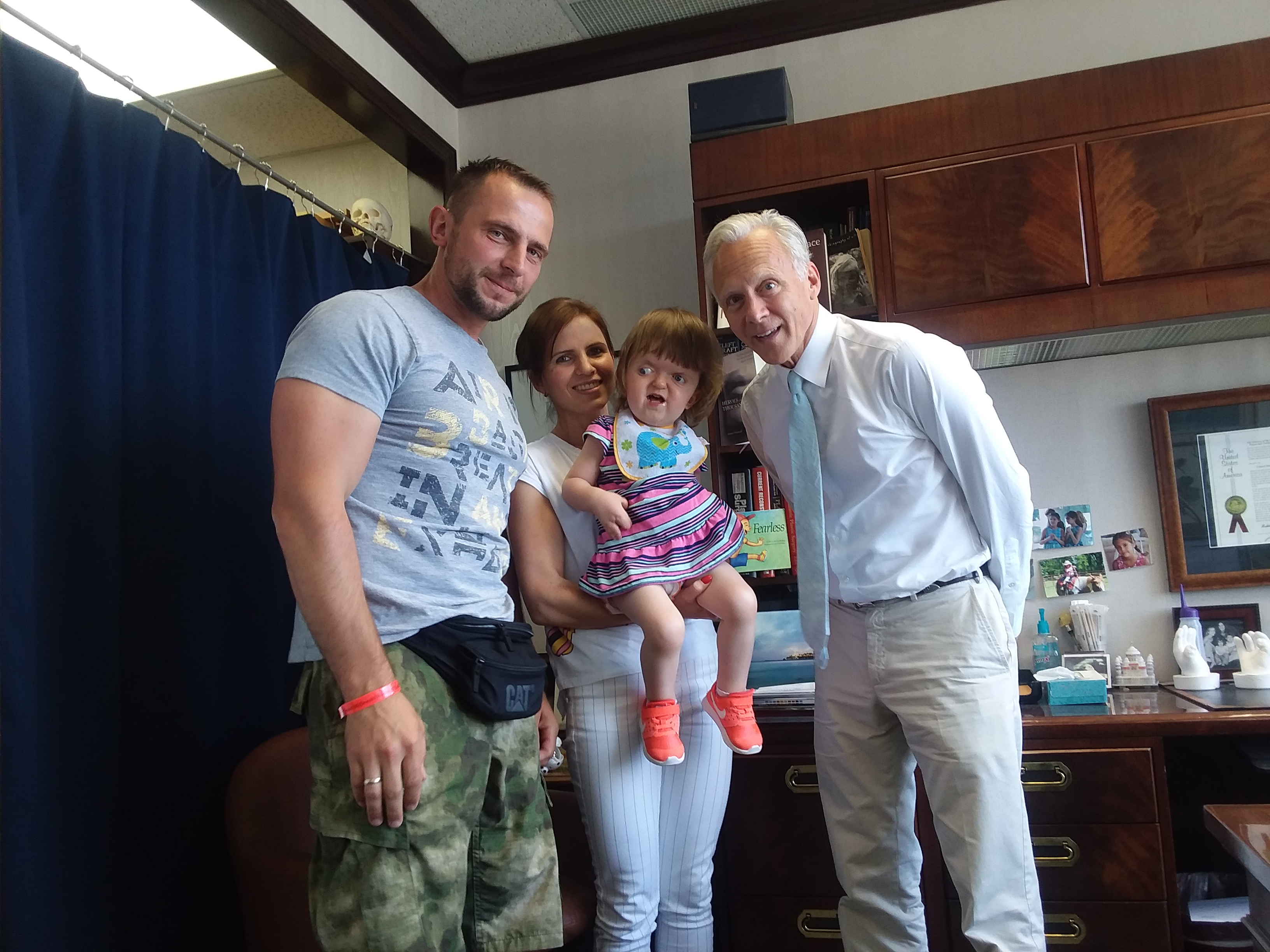 Matuszewski family - Dr Fearon office visit_