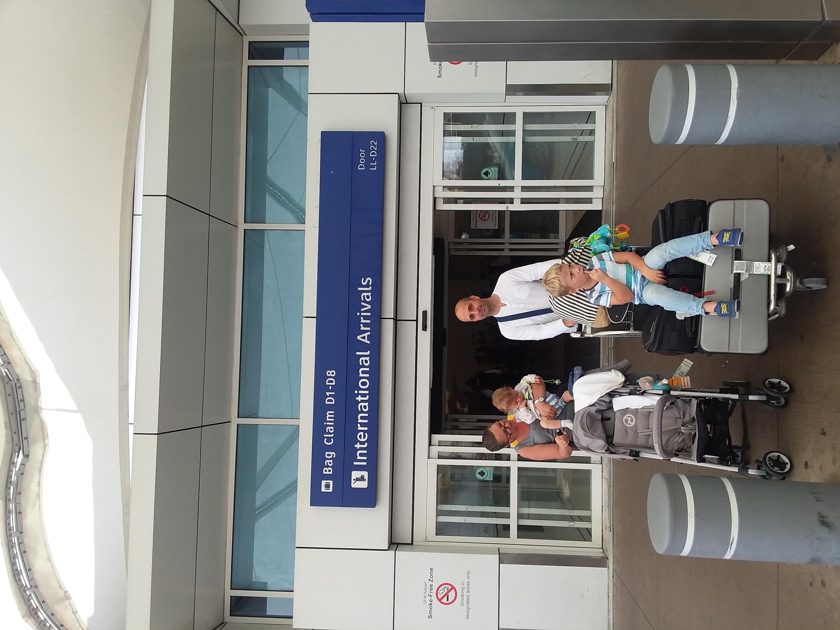 DFW Airport - Adam Kerner family arrived_