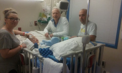 Kerner family - Dr Fearon visit after the surgery