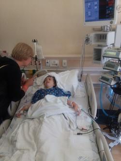 Julia after her surgery