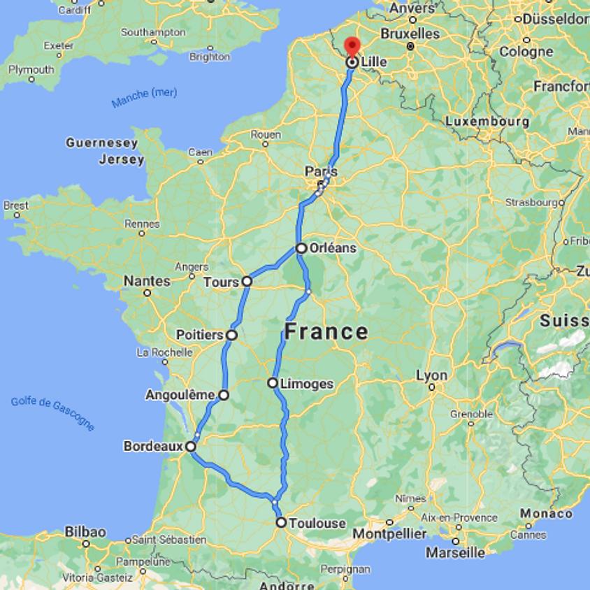 BeerCovoit vers Toulouse via Bordeaux