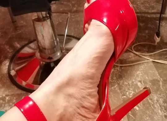 Scarpe indossate LOVELY RED