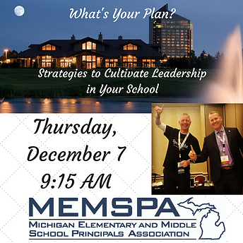 Dan Butler and Ben Gilpin presenting at the Michigan Elementary and Middle School Principals Association
