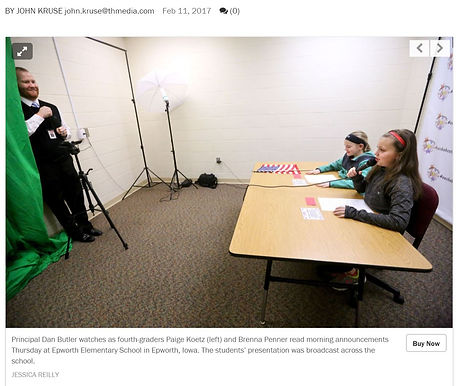 This Just In: Epworth Elementary Students Make Broadcast Debut