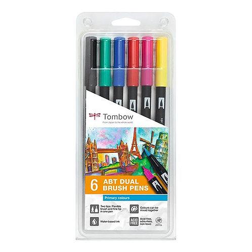 Conjunto Brush Pens Tombow Cores Primárias c/6