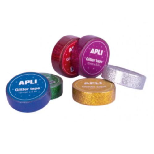 Fita Adesiva c/ Glitter Apli