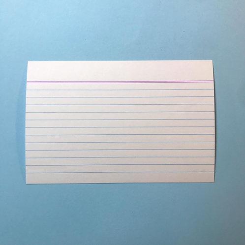 Flash Cards pautados - 100 folhas - 15x10 cm - 180g/m2