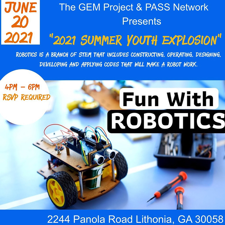 2021 Summer Youth Explosion (Fun with Robotics)