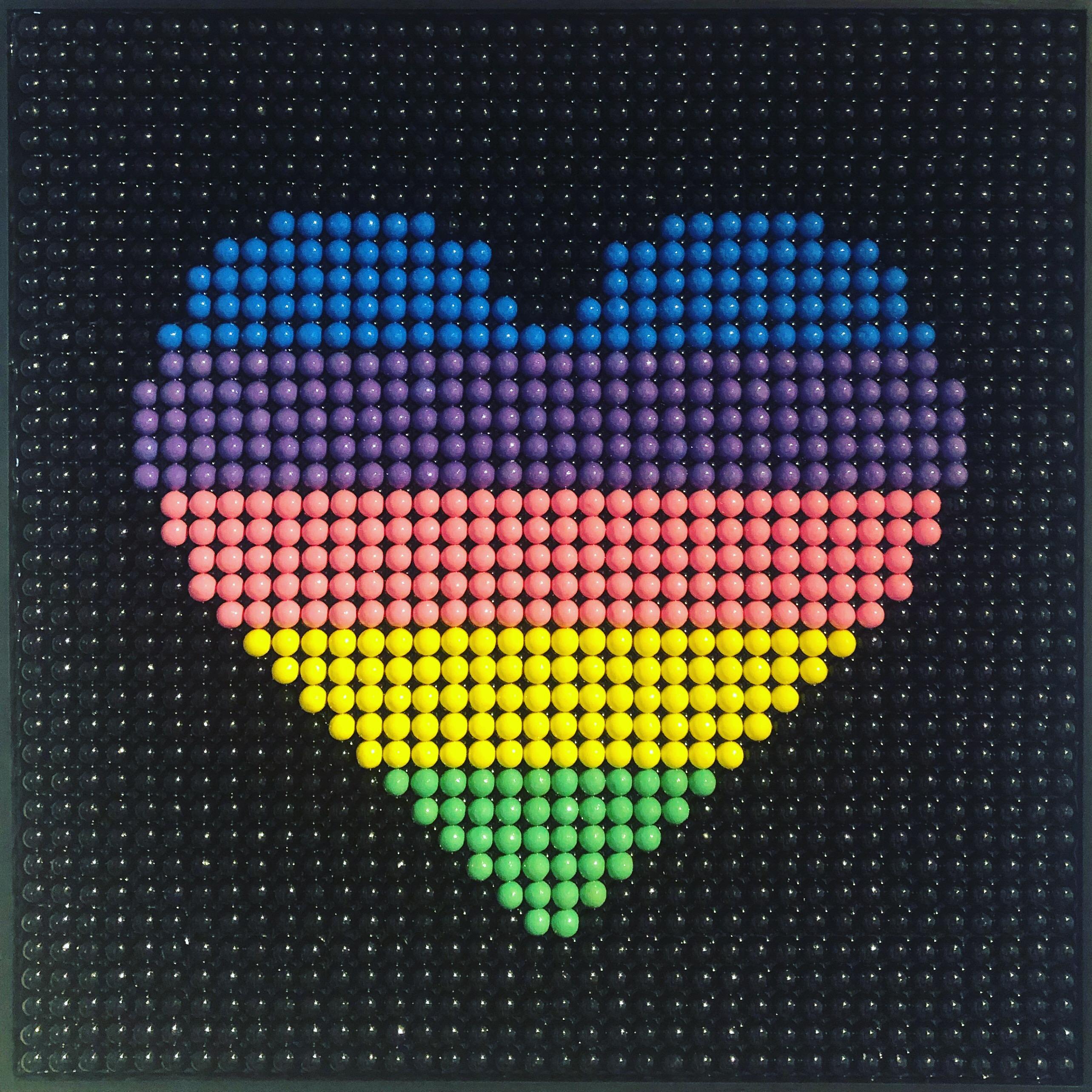 Bubble Gums Colorbars Heart