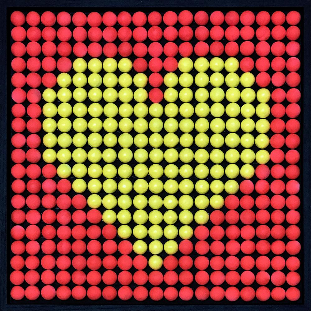 Bubble Gums Yellow Heart