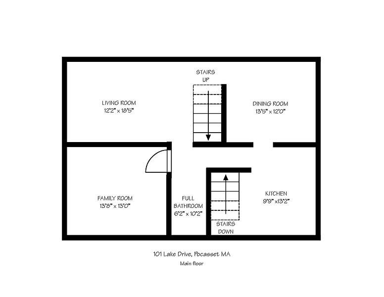 Floor Plans for 101 Lake Drive Pocasset