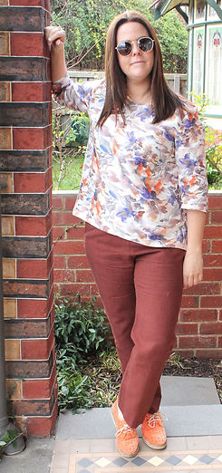 women's abstract summer cool print top by idyl clothing made in Australia