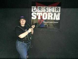 Playing Laser Storm at Skateland