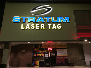"""Playing Stratum, """"The World's Largest Technotainment Laser Tag Arena"""""""