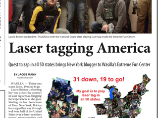 Newspaper Interview About Me Laser Tagging America