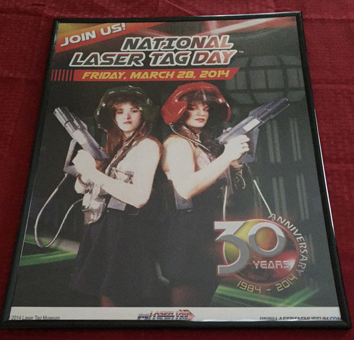 2014 Laser Tag Day Poster
