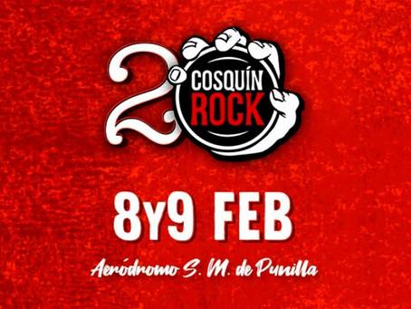 Cosquín Rock 2020: Los horarios