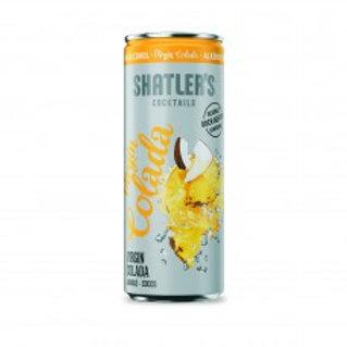 Shatler's Virgin Colada Cocktail Premix Blikjes 25cl Tray 12 Stuks Alcoholvrij