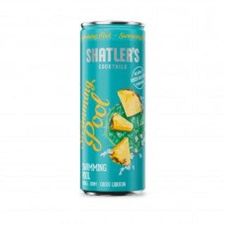 Shatler's Swimming Pool Cocktail Premix Blikjes 25cl Tray 12 Stuks