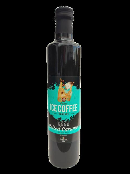 IJskoffie siroop basismix Salted Caramel suikervrij, vegan