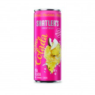 Shatler's Pina Colada Cocktail Premix Blikjes 25cl Tray 12 Stuks