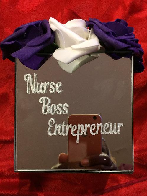 Nurse, Boss, Entrepreneur Mirror Box