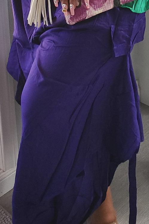 Purple side pocket pants