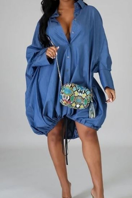 Loose Fit Bottom drawstring dress