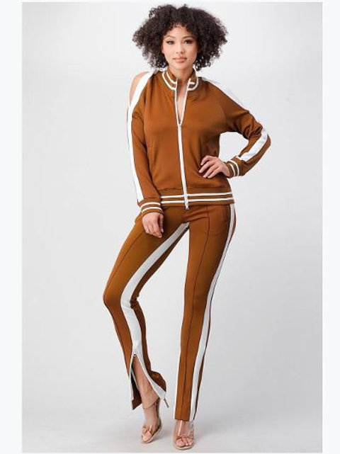 Cinnamon Track Jogger Suit