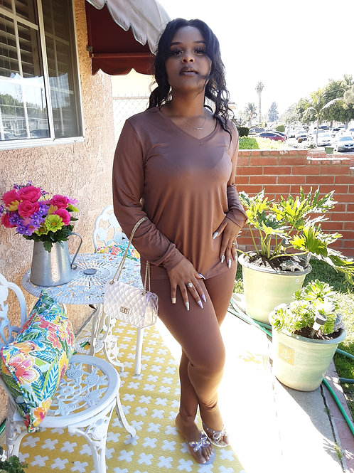 Brown 2pc LeggingSet