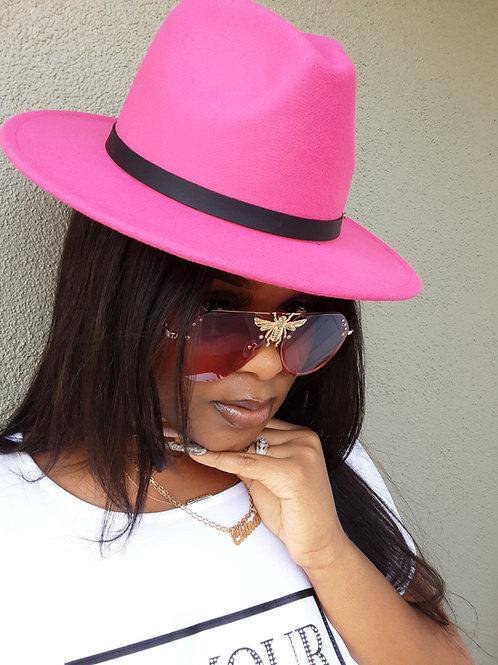 Fushia Panama Hat