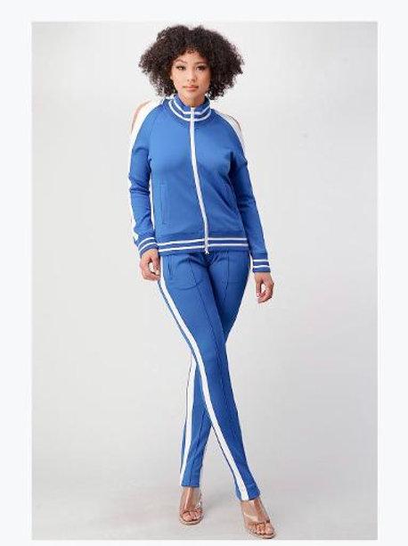 Blue Track Jogger Suit