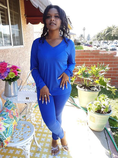 Royal Blue Legging Set