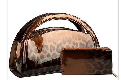 Brown Animal Print Purse