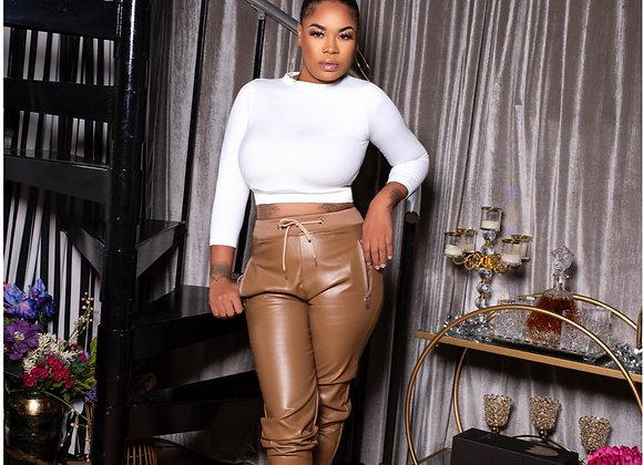 Mocha Leather Pants