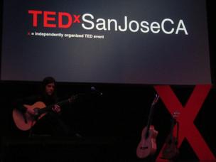 Presenting at TEDx San Jose, 2012