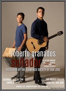 """Promotional poster for """"Soñador"""" CD Release Concert. Photo by Teresa Tam."""