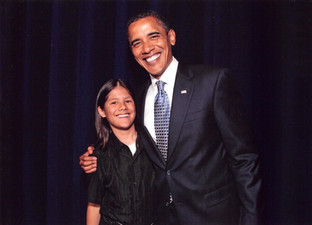 With U.S. President Barack Obama, 2009