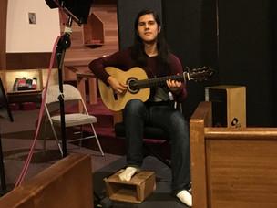 Recording for upcoming Flamenco album, 2016