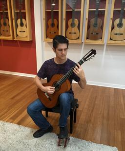 At Guitar Salon International (GSI), 2018