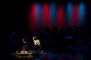 Performing at the Santa Cruz Symphony, conductor Daniel Stewart, 2015