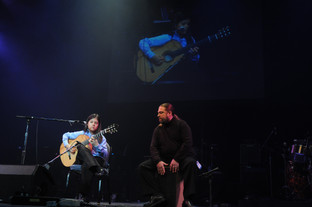 Performing with teacher and Flamenco guitarist Jason McGuire, 2009